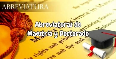 Abreviaturas de maestría y doctorado