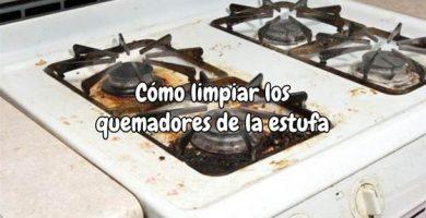 Cómo limpiar los quemadores de la estufa