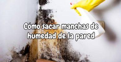 Como sacar manchas de humedad de la pared