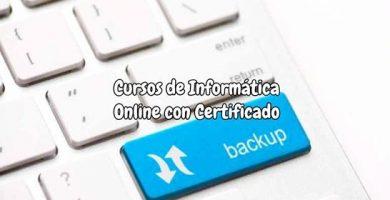 Cursos de Informática Online Gratis con Certificado