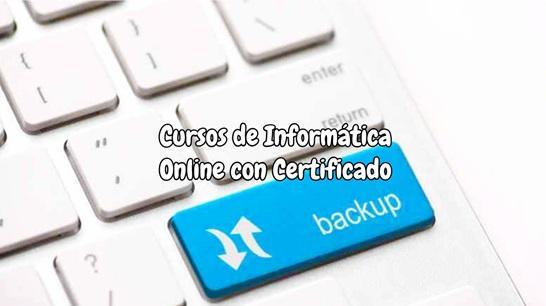 Cursos De Informatica Online Gratis Con Certificado Julio 2021
