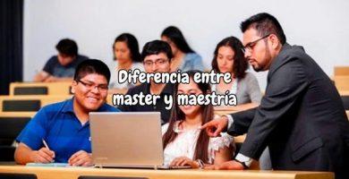 Diferencia entre master y maestria