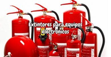 Extintores para equipos electrónicos