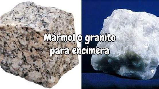 Mármol o granito para encimera