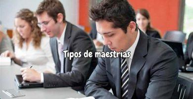 Tipos de maestrías