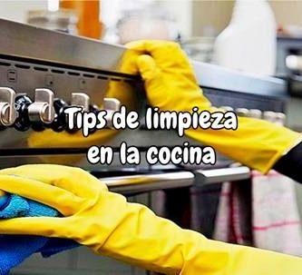 Tips de limpieza en la cocina